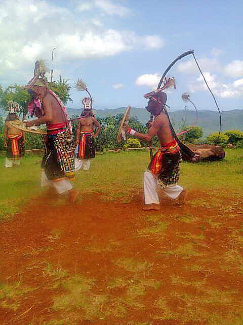 Labuan Bajo - Flores Island - Indonesia. Caci - ritual whip fight in Melo or Tado