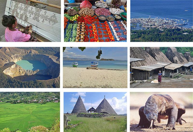 Komodo, Rinca, Waran, Traditionelles Dorf Bena, Traditional Village Luba, Cultur, Natur