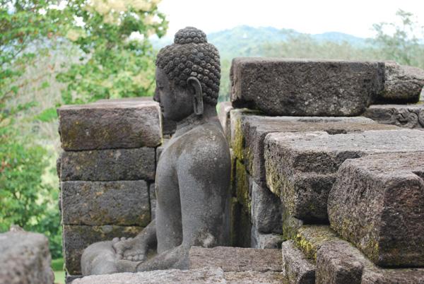 Borobudur Tempel in der Naehe von Yogyakarta -Insel Java Indonesien