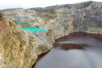 Indonesia - Flores Island -  Kelimutu -  The east lake is also called Tiwu Ata Polo (Bewitched or Enchanted Lake). Colors: 2013