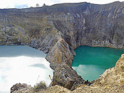 Volcano Kelimutu 3coloured crater lakes in Moni - Flores Island - Indonesia
